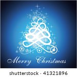 christmas tree with magic... | Shutterstock . vector #41321896