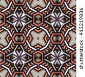 polynesian tribal seamless... | Shutterstock .eps vector #413219836
