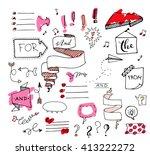 vector hand drawn set on white... | Shutterstock .eps vector #413222272
