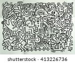 dancing party pattern with... | Shutterstock .eps vector #413226736