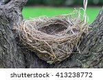 close up empty birds nest in... | Shutterstock . vector #413238772