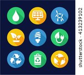 green energy icons flat design... | Shutterstock .eps vector #413239102