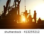 oil drilling exploration  the... | Shutterstock . vector #413255212