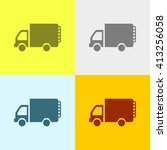 mini truck icon on four... | Shutterstock .eps vector #413256058