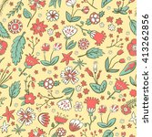 hand drawn colorful flower... | Shutterstock .eps vector #413262856