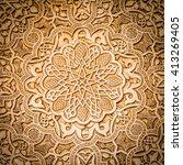wall detail of alhambra unesco...   Shutterstock . vector #413269405