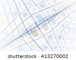 funky blue   grey abstract... | Shutterstock . vector #413270002