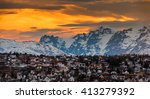 city of tromso  norway | Shutterstock . vector #413279392