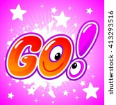 vector illustration. logo. go  | Shutterstock .eps vector #413293516