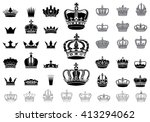 Set Of 40 Detailed Crowns...