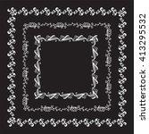 vector doodle frame. vintage... | Shutterstock .eps vector #413295532
