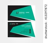 business card vector background | Shutterstock .eps vector #413297872