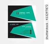 business card vector background | Shutterstock .eps vector #413297872