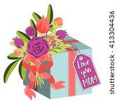 happy mothers day. holiday... | Shutterstock .eps vector #413304436