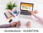 business desk concept  ... | Shutterstock . vector #413307196