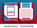 brochure design  template... | Shutterstock .eps vector #413326348