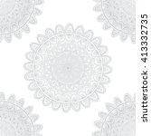 vector nature seamless pattern... | Shutterstock .eps vector #413332735