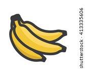 bananas illustration   flat icon | Shutterstock .eps vector #413335606