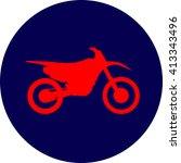 motocross dirt bike sign | Shutterstock .eps vector #413343496