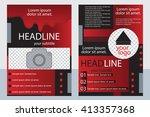 template design of brochures... | Shutterstock .eps vector #413357368