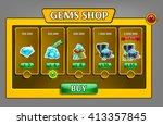 shop gems panel  game asset...