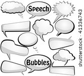 speech and thought vector... | Shutterstock .eps vector #41336743