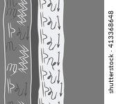 vertical  seamless  pattern of... | Shutterstock .eps vector #413368648