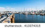 a panoramic view of a marina... | Shutterstock . vector #413374315