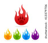 colored silhouettes paw prints. ... | Shutterstock .eps vector #413379706