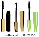 vector illustration of set of... | Shutterstock .eps vector #413391466