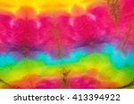 fabric tie dye color texture... | Shutterstock . vector #413394922