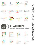 flag icon logo vector... | Shutterstock .eps vector #413408626