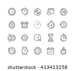 simple set of time related... | Shutterstock .eps vector #413413258