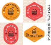 set of badges  banner  labels... | Shutterstock .eps vector #413414218
