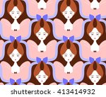 woman with beautiful hairstyle... | Shutterstock .eps vector #413414932