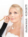 bridal make up is being applied ... | Shutterstock . vector #41341879