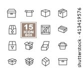 box icon set on white background | Shutterstock .eps vector #413419576