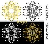 vector graphic geometric golden ... | Shutterstock .eps vector #413425498