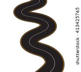 illustration of winding road on ... | Shutterstock . vector #413425765