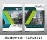 green annual report brochure... | Shutterstock .eps vector #413426818