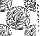 vector outline black tailor... | Shutterstock .eps vector #413428945