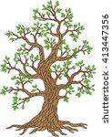apple season tree collection....   Shutterstock .eps vector #413447356