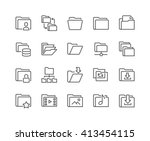 simple set of folders related... | Shutterstock .eps vector #413454115