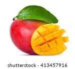 mango isolated on white | Shutterstock . vector #413457916