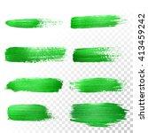 vector green watercolor glitter ... | Shutterstock .eps vector #413459242