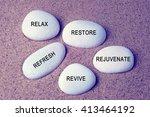 wellness  spa and beauty... | Shutterstock . vector #413464192