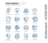simple set of document related... | Shutterstock .eps vector #413467405