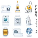 vector household appliances... | Shutterstock .eps vector #41347429