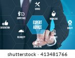 expert advice technology... | Shutterstock . vector #413481766