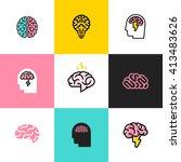 brain  brainstorming  idea ... | Shutterstock .eps vector #413483626